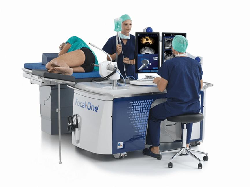 Pομποτικά υποβοηθούμενο σύστημα ογκεκτομή του προστάτη Focal One